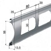 Профиль роллетный решетчатый AEG56