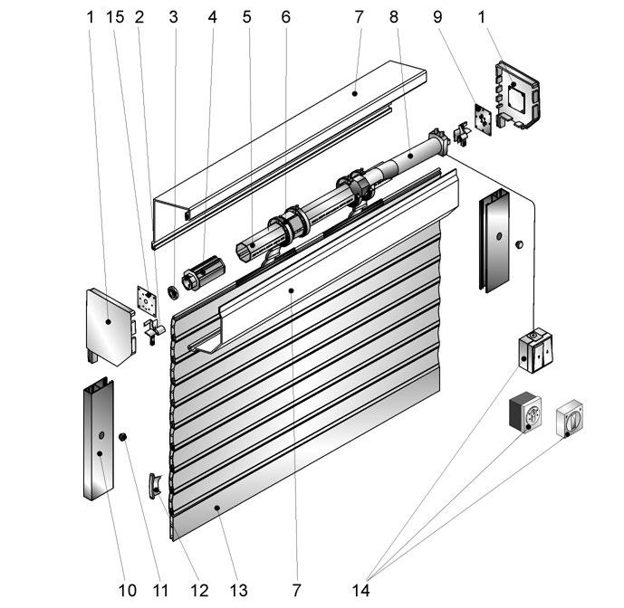 Строение конструкции рольставни с электроприводом