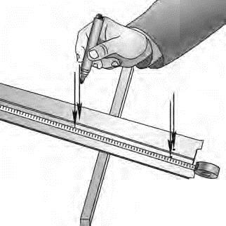 Подготовка направляющих шин рольставен для накладного монтажа