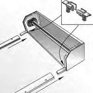 Установка направляющих устройств в боковые крышки
