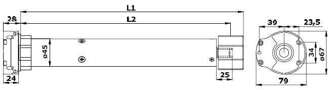 Электропривод Alutech серии AM1-PP