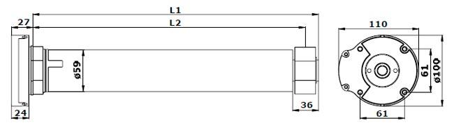 Электропривод Alutech серии AM2-PP