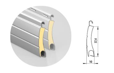 Профиль алюминиевый с супертвердым пенным наполнением ARН/37S(N)