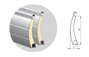 Профиль алюминиевый с супертвердым пенным наполнением ARН/40(N)