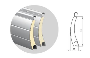 Профиль алюминиевый с супертвердым пенным наполнением ARН/55(N)