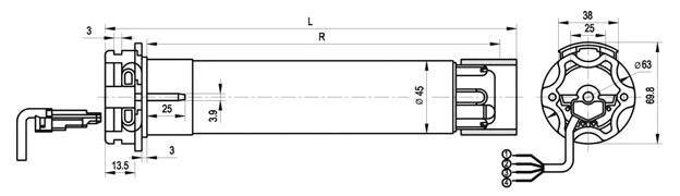 Электропривод SOMFY серии HiPro-LT 50