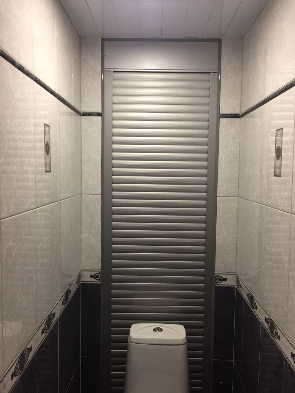 Туалетные рольставни в санузле